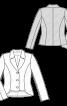 Жакет приталеного силуету з видовженою спинкою - фото 3
