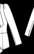 Жакет приталеного силуету з хвилястими пілочками - фото 3