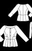 Жакет приталенного кроя с рукавами реглан 7/8 - фото 3