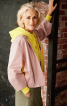 Жакет силуэта баллон с фигурными рукавами - фото 1