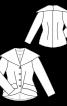 Жакет винтажный с широким воротником - фото 3