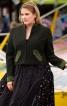 Жакет-янкер із замшевими деталями - фото 1