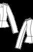 Жакет шовковий з баскою - фото 3
