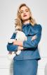 Жакет приталеного силуету з баскою - фото 1