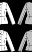 Жакет однобортний з баскою і відкладним коміром - фото 3