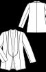 Жакет без застібки з шалевим коміром - фото 3