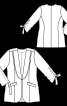 Жакет з шалевим коміром і кулісками на рукавах - фото 3