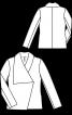 Жакет в стиле брит-шик с асимметричным воротником - фото 3