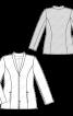 Жакет приталеного силуету із застібкою на блискавку - фото 3