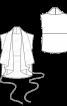 Жилет з овчини із суцільнокроєним коміром - фото 3