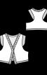 Жилет з декором із тасьми з китицями - фото 3