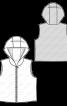 Жилет стьобаний прямого крою - фото 3