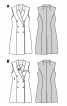 Жилет двобортний приталеного силуету - фото 6