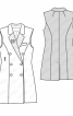 Жилет двобортний приталеного силуету - фото 3