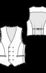 Жилет двобортний класичного крою - фото 3