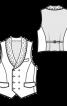 Жилет двобортний із шалевим коміром - фото 3