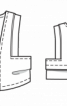 Короткий жилет зі шкіряним кантом - фото 3