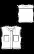 Жилет прямого крою з накладними кишенями - фото 3