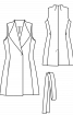 Жилет шерстяний приталеного силуету - фото 3