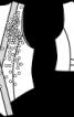 Жилет оксамитовий із видовженими пілочками - фото 3