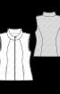 Жилет приталений зі стьобаної тканини - фото 3