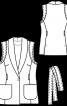 Жилет приталеного крою із шалевим коміром - фото 3