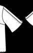 Блузка з розкльошеними рукавами - фото 3