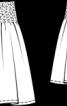 Спідниця з еластичною зборкою на талії - фото 3