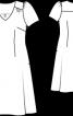 Сукня з призбореними окатами рукавів - фото 3