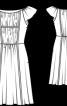 Сукня із міні-рукавами  реглан - фото 3