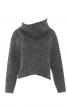 Пуловер з широким суцільнокроєним коміром - фото 2