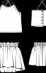 Топ на бретелях і спідниця на кулісці - фото 3