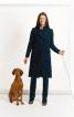 Пальто прямого силуету з коміром-стійкою - фото 1