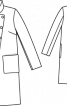 Пальто прямого силуету з коміром-стійкою - фото 3