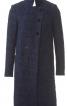 Пальто прямого силуету з коміром-стійкою - фото 2