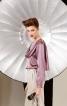 Блузка прямого силуету із шарфом - фото 1