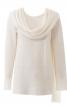 Пуловер прямого крою з імітацією шарфу - фото 2