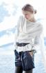 Пуловер прямого крою з імітацією шарфу - фото 1