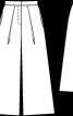 Спідниця-брюки з поясом - фото 3