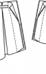 Спідниця коротка асиметричного крою - фото 3