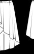 Спідниця асиметричного крою з запахом - фото 3