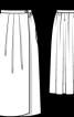 Довга спідниця із запахом - фото 3