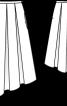 Спідниця асиметрична із зустрічними складками - фото 3