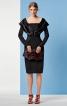 Сукня з декольте та рукавами - фото 1
