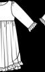 Сукня з рукавами 7/8 - фото 3
