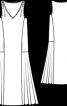 Сукня із заниженою талією без рукавів - фото 3