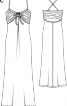 Сукня-сарафан на бретелях-спагеті - фото 3