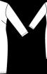 Сукня на одне плече з рукавом - фото 3