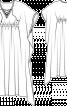 Сукня вільного крою із заниженими проймами - фото 3