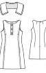 Сукня приталеного силуету зі знімним коміром - фото 3